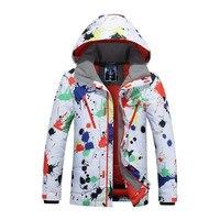 2016 Gsou Snow Brand Winter Ski Suit Ski Jacket Men Mountain Skiing Coats Waterproof White