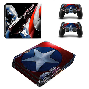 Image 5 - Spiderman Design skórka naklejka na konsolę Sony Playstation 4 Pro i 2 szt. Skórka na kontroler naklejka na akcesoria do gier PS4 Pro