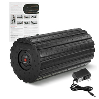 4 Speed Vibrating Fitness Foam Roller for Muscle Recovery Deep Tissue Massage Yoga Pilates Fitness Physio Massage Roller