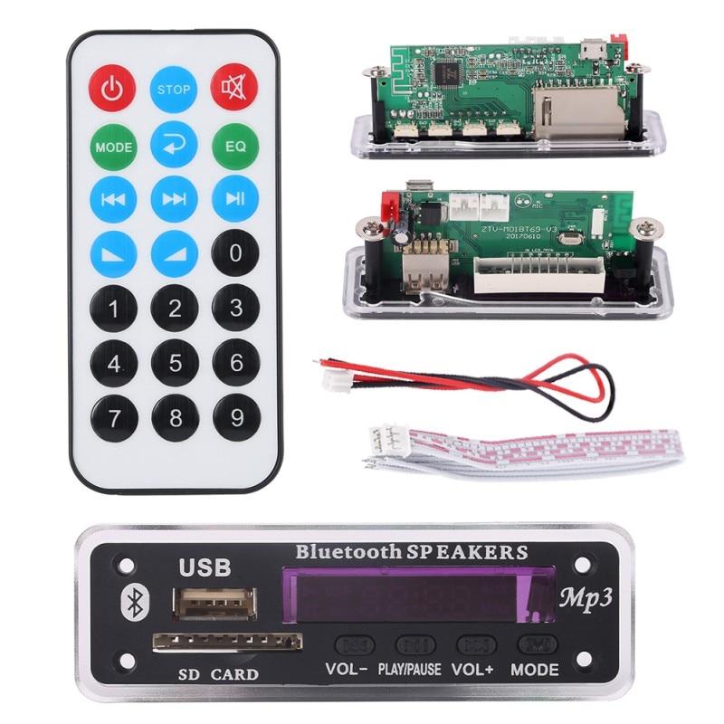 Remote Decoding Board Module High Quality Newest Bluetooth MP3 Decoding Board Module W/ SD Card Slot / USB / FM /