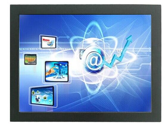 15 дюймов открытой рамки мультитач-монитор 4-проводной резистивный открытой рамки жк-монитор с DVI и VGA вход
