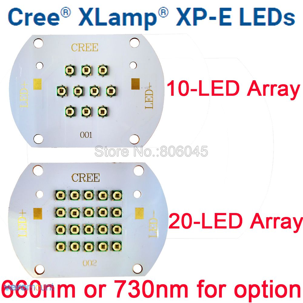 30W 60W Cree XP-E XPE Plant Grow Multi-Chip 10LED 20LED Intergrated LED Array Photo Red 660nm Far Red 730nm On Copper PCB Board