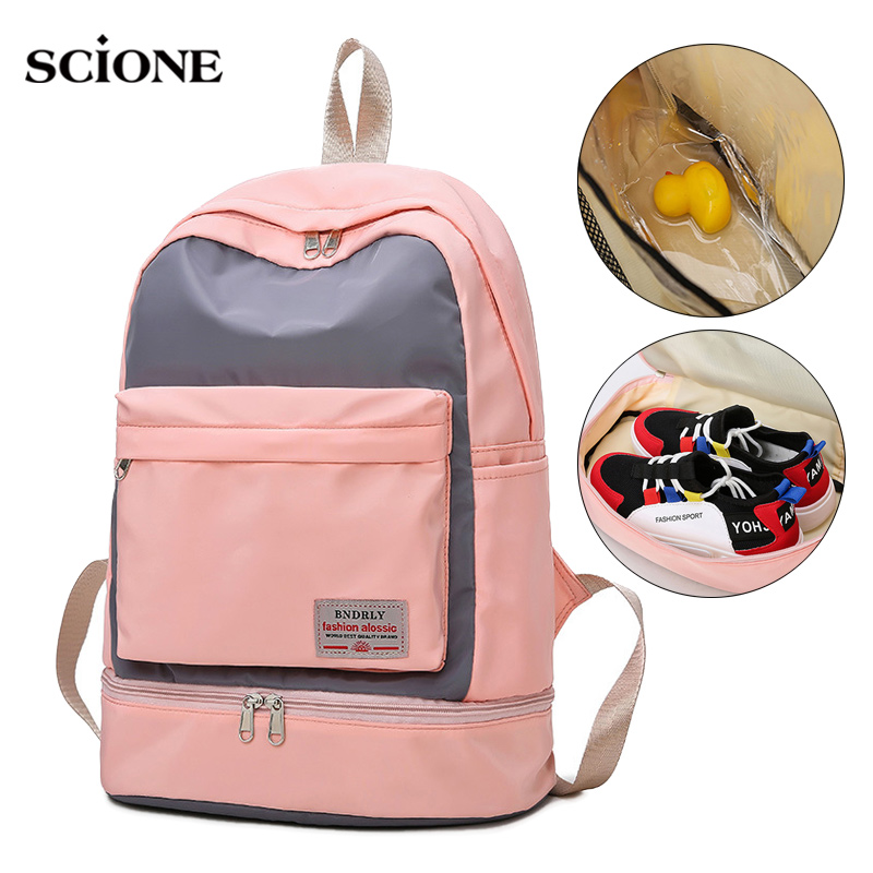 Women Gym Backpack Fitness Bag Travel  Rucksack Waterproof Dry And Wet Bolsa Deporte Mujer Sac De Sport Gymtas Femme XA850WA