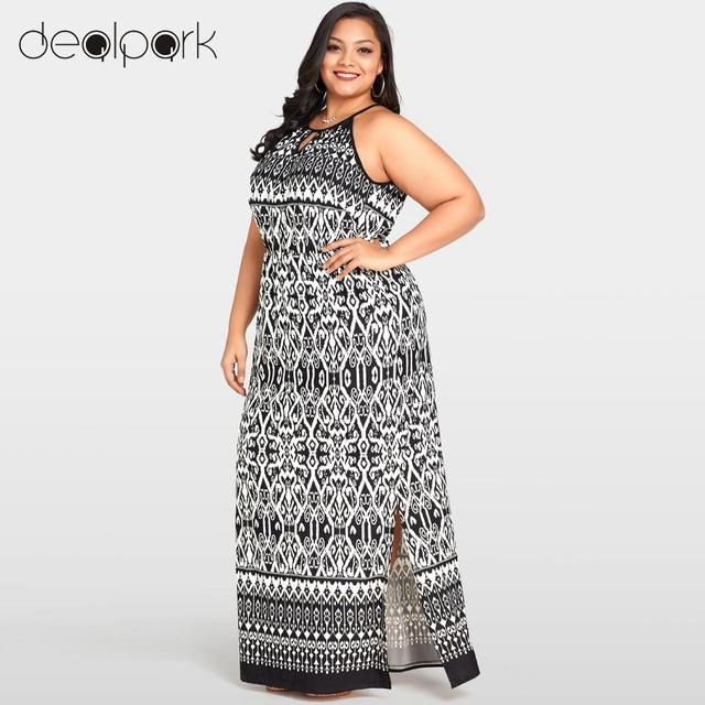 8b5523c5845cb Women Boho Printed Maxi Dress Cut Out Off Shoulder O-Neck Long Dress Plus  Size 3XL 4XL 5XL Summer Robe female gowns oversized