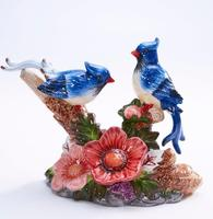 Creative Couples Mandarin Duck Birds Ornaments Animal Figurines Home duck lovers Decoration Crafts Wedding Gift Accessories