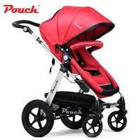 Patent Design High Landscape Luxury Baby Stroller Cart Four Wheels Trolley Can Sit Lie Summer Umbrella Lightweight Folding Pram