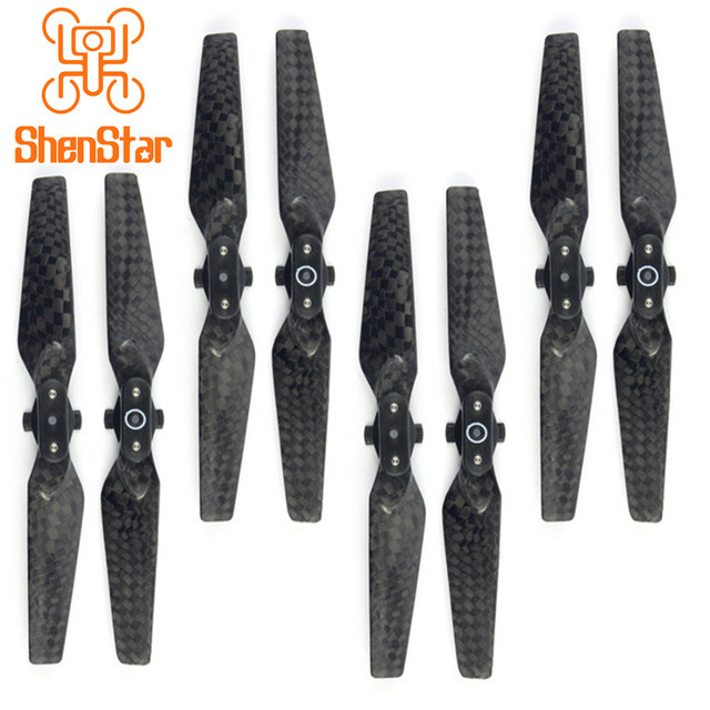 1pack of 4pairs 4730F Carbon Fiber Quick Release Foldable Propellers for DJI Spark Drone Accessory CW + CCW CF Props
