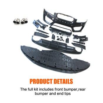 Kits De Cuerpo Negro PP Parrillas De Parachoques Delantero Para Difusor De Parachoques Trasero Terminales De Escape Kits De Cuerpo Para Jaguar XF Sedan 4 Puertas 2014-2