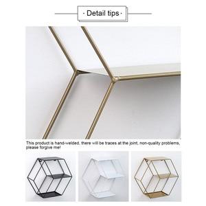 Image 3 - Dekoracje ścienne półka do przechowywania Morden Metal żelaza rozmaitości regał do przechowywania dekoracyjne półki ścienne Organizador osłonka na doniczkę