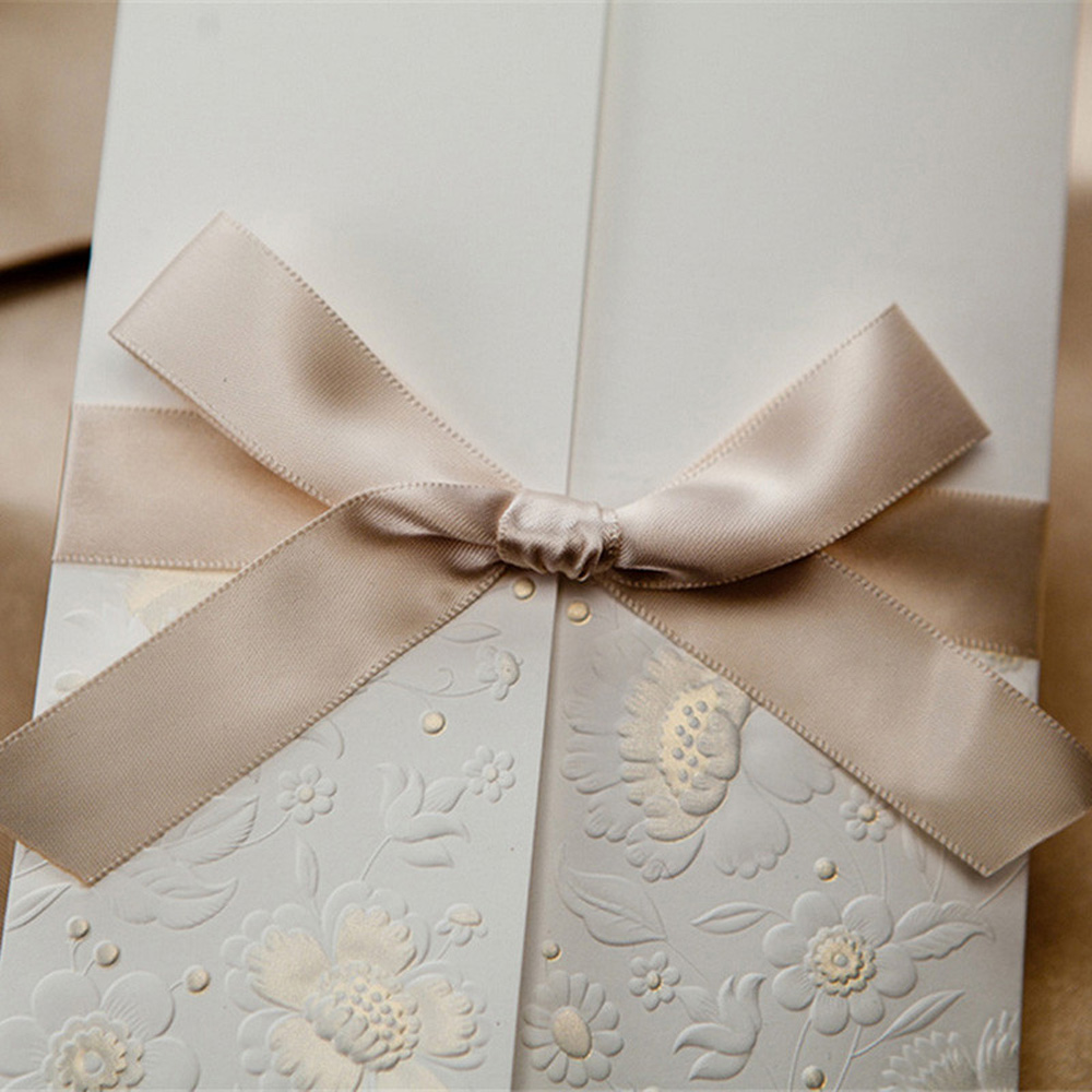 1pcs Sample White Laser Cut Wedding Invitations Card Personalized ...