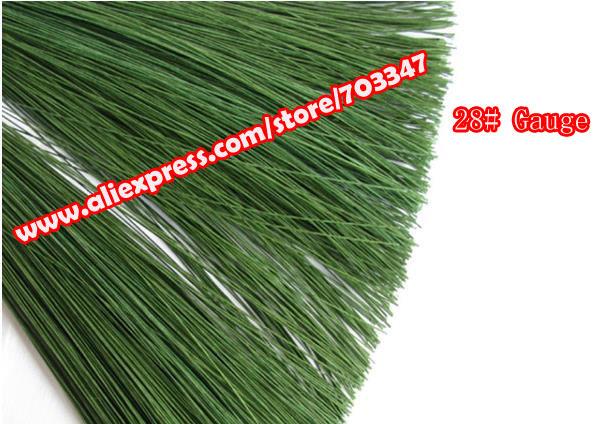 """Big Order Big Discount!! 600pcs X 28# Gauge Floral Stem Wire 23.6"""" In Green *Free Shipping*"""