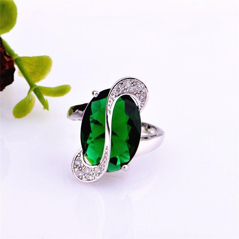 Almei 35% Off Mode Biru Kristal Jewerly Set untuk Wanita Warna Silver - Perhiasan fashion - Foto 3
