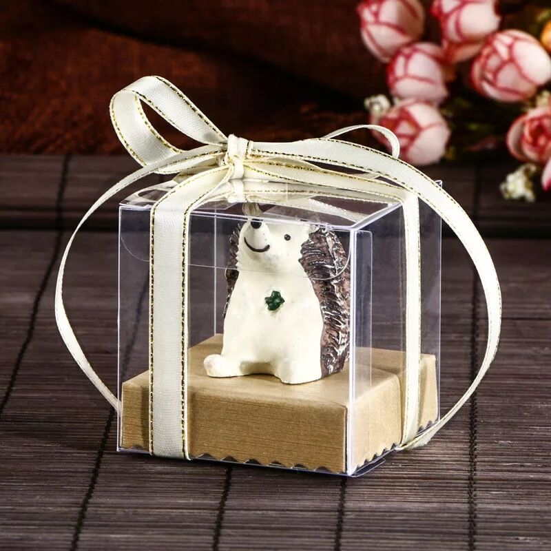 30PCS/lot 10*10*10cm plastic box with paper buttom /wedding favor box/100% high quality free shipping China post air mail