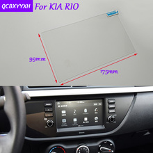 Car Sticker 8 inch GPS Navigation Screen Glass Protective Film For KIA RIO Accessories Control of LCD Screen Car Styling