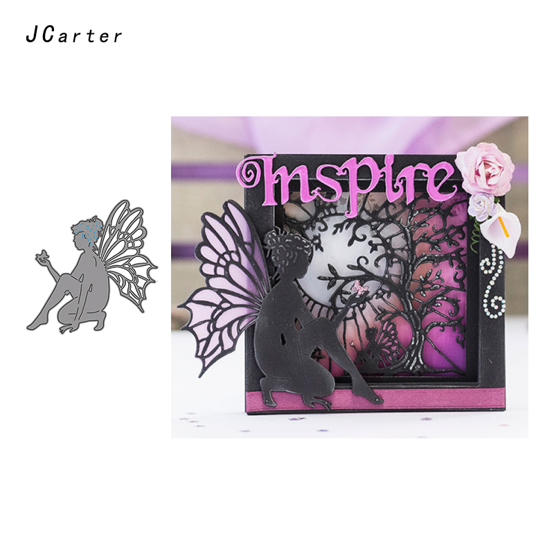JCarter Pretty Butterfly Fairy Metal Cutting Dies for Scrapbooking DIY Embossing Folder Card Photo Stencil Handmade Album Crafts