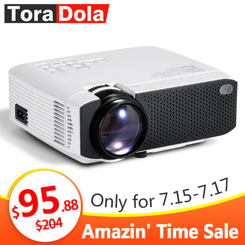 TORA dole projecteur LED Android 7.1OS. Meilleur MINI projecteur HD. 1280x720 résolution Home Cinema, 1080P Beamer WIFI TD01