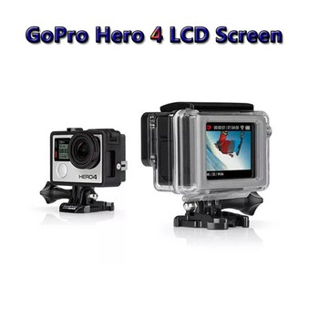 Gopro LCD BacPac Display Screen + LCD Version Waterproof Protective Housing Case BacPac Backdoor Cover For Gopro Hero 3/3+/4
