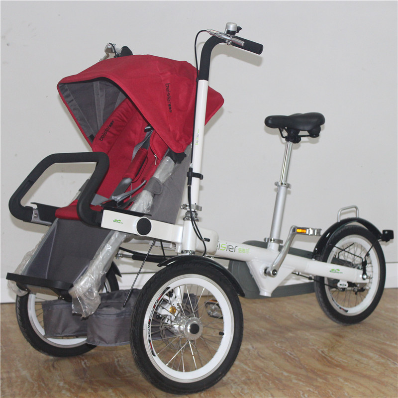 America&Euro Vogue Aluminum Alloy Bike Stroller Cute Baby Bicycle Prams Folding Umbrella Car Three Wheels Trolley d09 aluminum alloy bicycle cnc front fork washer blue white 28 6mm