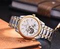 2016 Hombres de lujo Del Reloj 100 M Impermeable Papel Brazalete Oyster Cristal de Zafiro Reloj Mecánico Automático de Los Hombres Deportes Reloj de Buzo