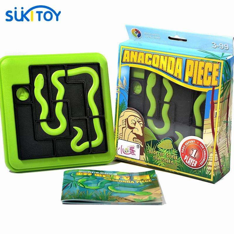 Anaconda Piece Riddles Classic Shape-matching Puzzle Montessori Smart IQ Puzzle Toys For Children Brinquedos Juguetes Oyuncak
