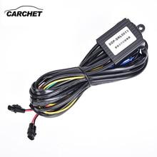 CARCHET DRL дневного жгут светодиодный ламповое реле Управление On/Off лампа с диммером комплект для автомобиля DRL ламповое реле DC 12 V 2.5A 30 Вт