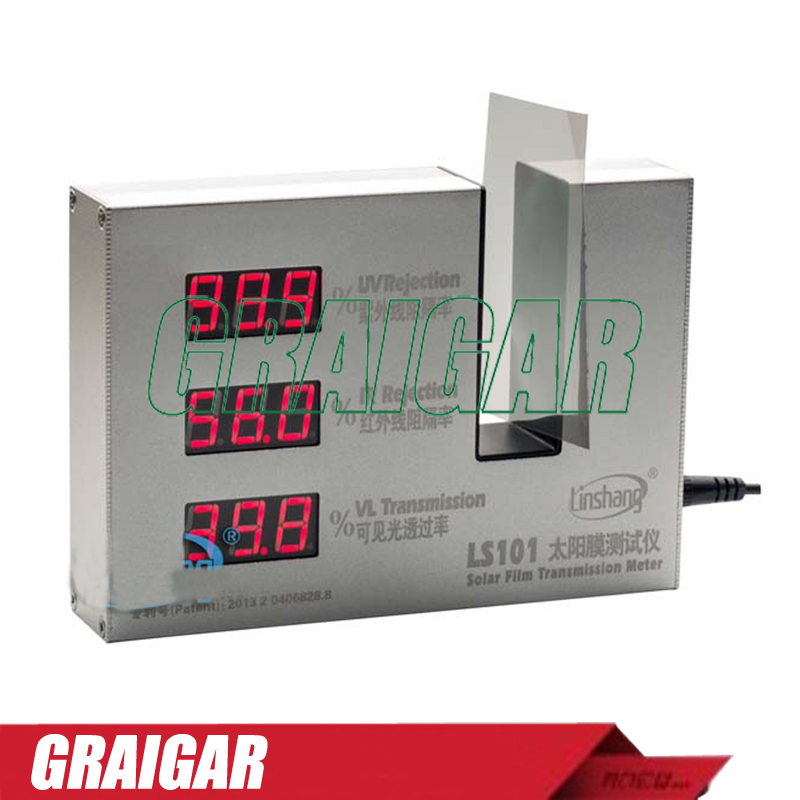 LS101 solar film transmission meter digital UV/IR  Rejection meter, Light Transmittance Meter Three function in ONE device