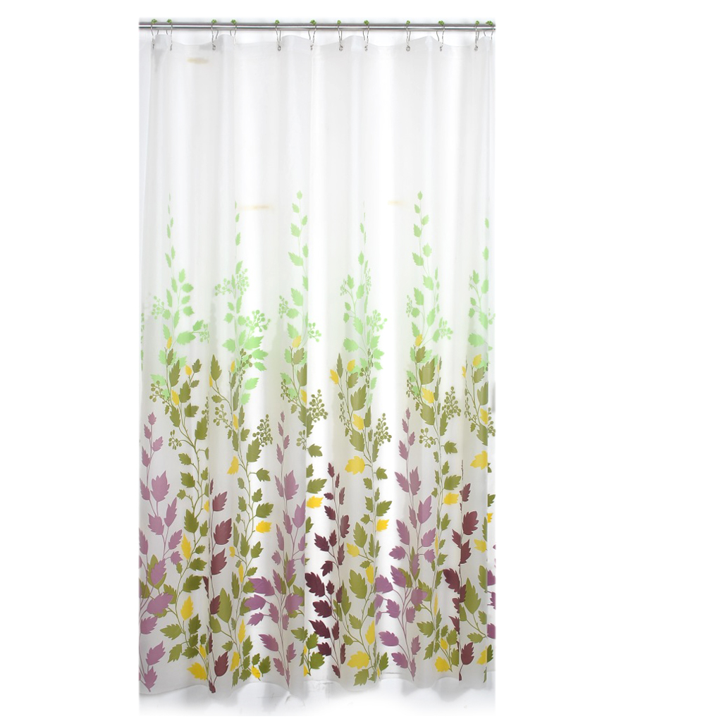 Transparent cloth shower curtain - Frosted Transparent Shower Curtain Mildew Maple Leaf Shower Curtain Waterproof Mildew Curtain Reliable Quality China
