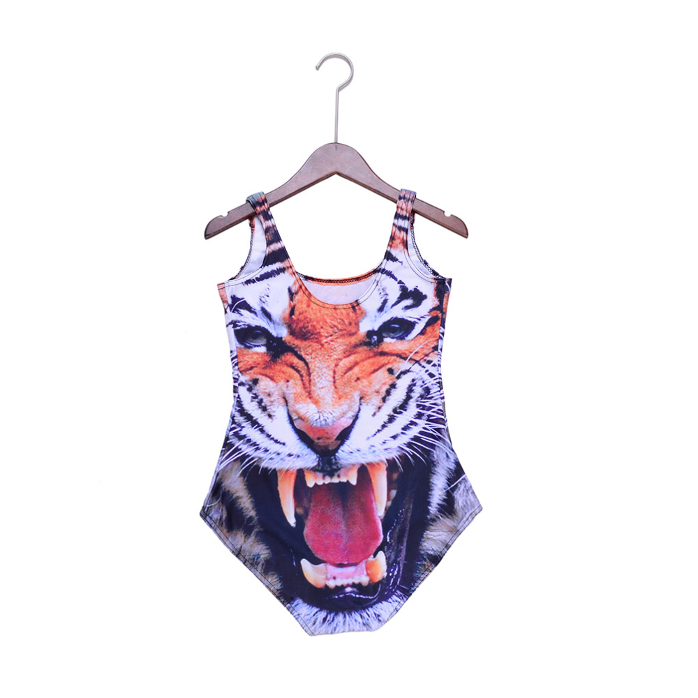 1c07bb64c7b82 Wholesale SEXY Womens European Skinny Tiger Swimsuit One Piece Swimwear  Digital Print Backless Wetsuit Wholesale Sst 1031-in Body Suits from Sports  ...