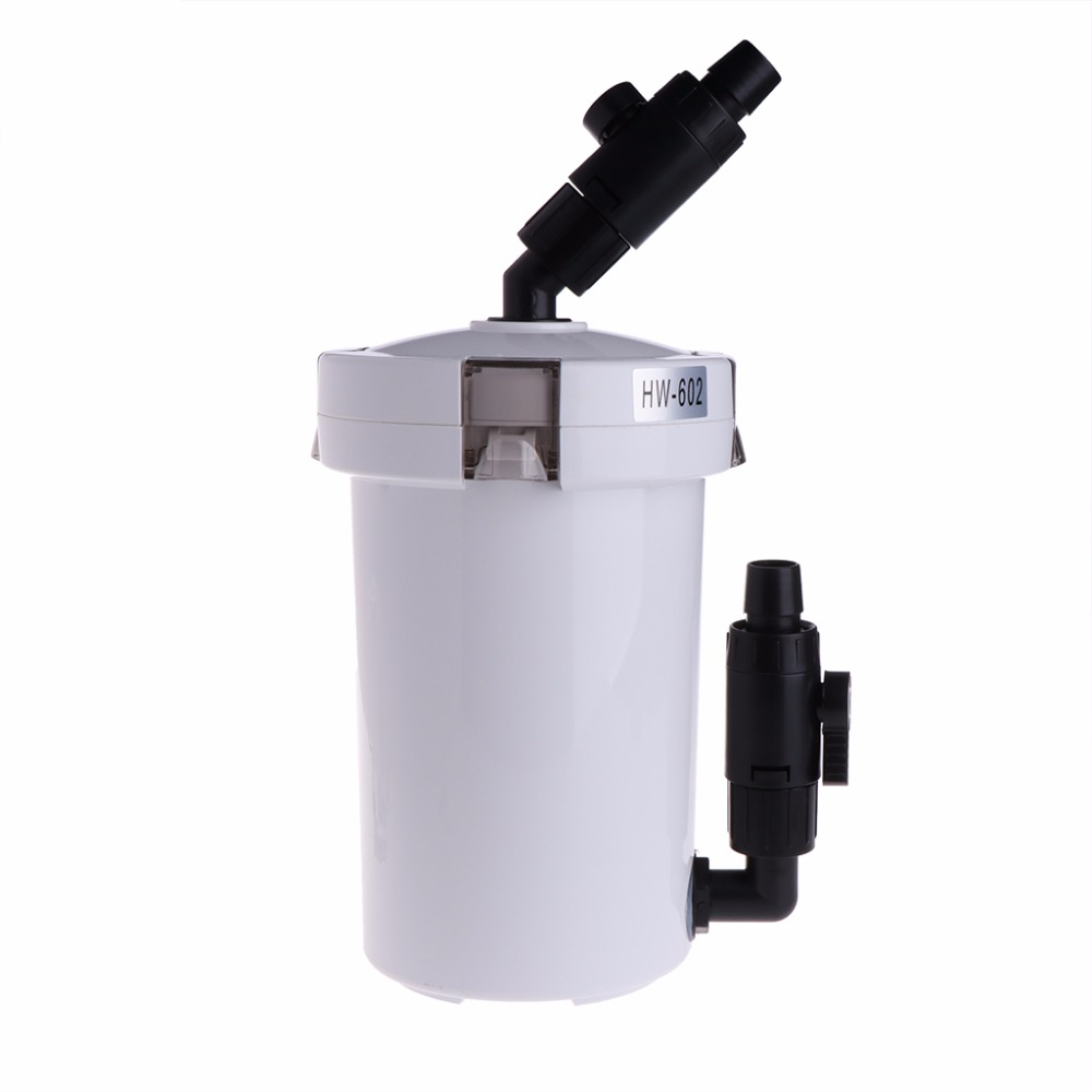New ultra quiet external filter bucket hw 602 for aquarium for Quiet fish tank filter