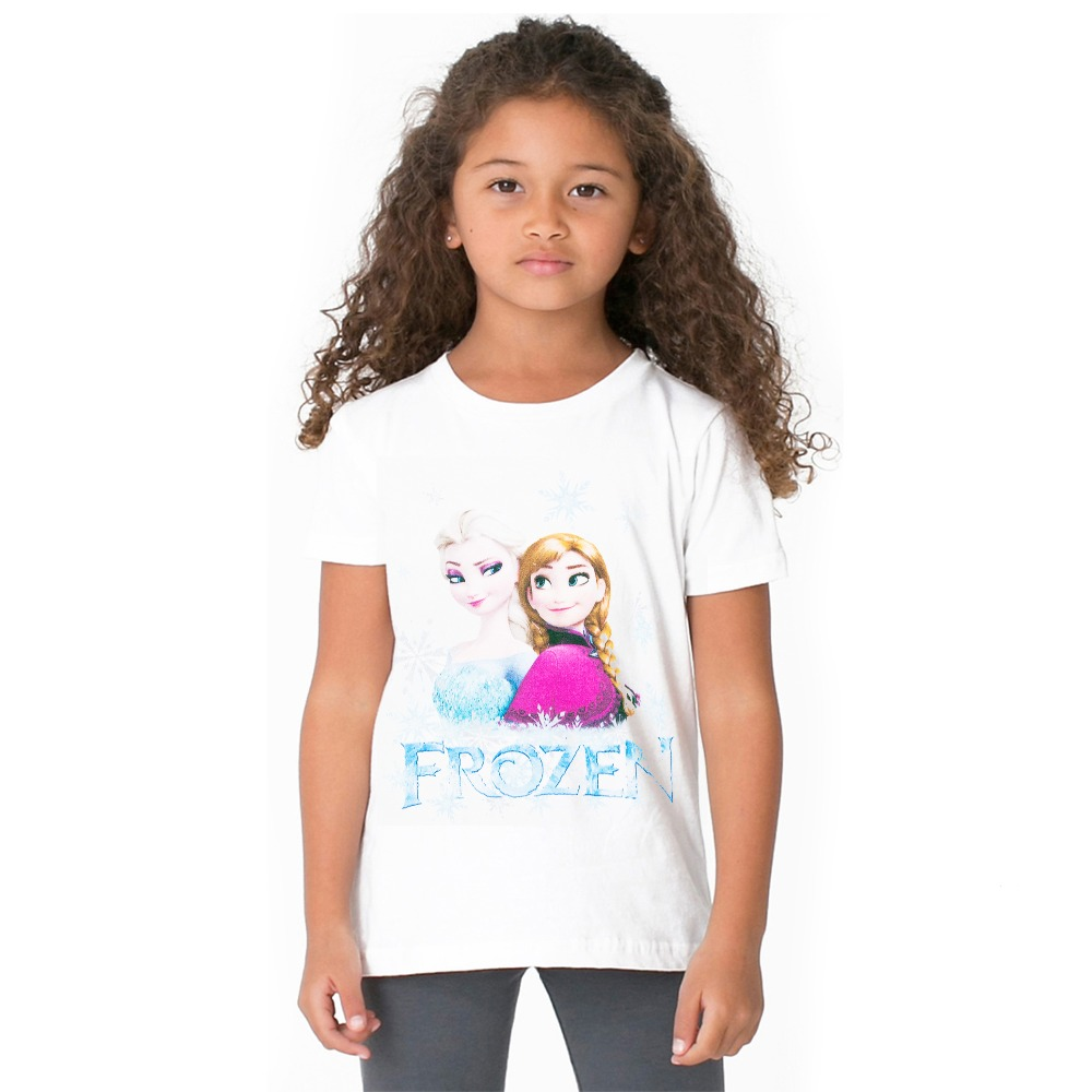 1-12year Baby Girls Summer Tops Children Tshirts Girls Tees Short Sleeve Elsa Anna T-shirts Kids Wear Girls Clothing Elsa Shirt