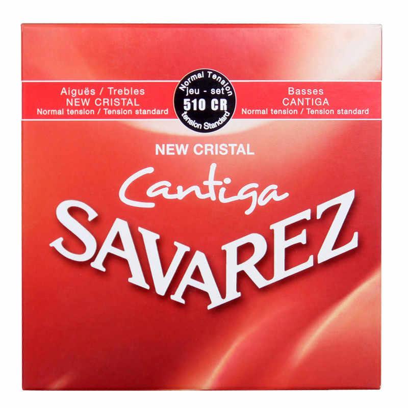 الأصلي Savarez الكلاسيكية الغيتار سلاسل مجموعة 510CJ 510CR جديد كريستال Cantiga باس تعزيز سلاسل لالغيتار الكلاسيكي