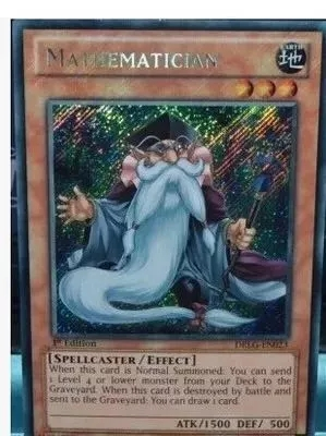 Yu Gi Oh Game King N/GR/SCR Mathematician Collection Card
