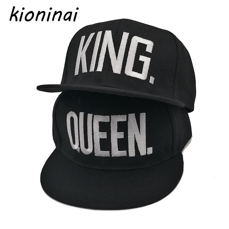 KING QUEEN Snapback Hat Acrylic Couple Baseball Cap Men Women Lovers Gifts For Girl Boy Friends Hip Hip Cap Last Kings Casquette 2016 new new embroidered hold onto your friends casquette polos baseball cap strapback black white pink for men women cap