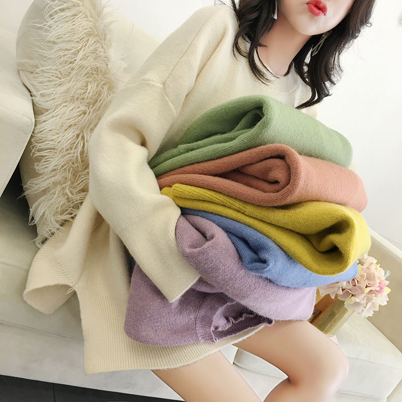 Autumn Winter Sweater Women Pullovers Long Sleeve Knitted Sweater Female Casual Streetwear Ladies Winter Tops Sweater Jumper Z48