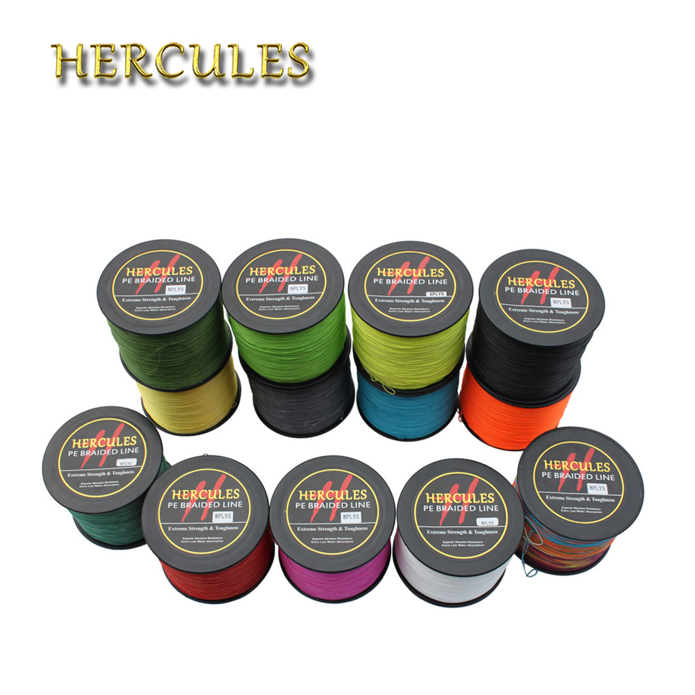 Hercules Fishing Line Super Power Peche 8 Strands PE 1500M 100LB 1640Yds 0.55mm Pesca Braided Fishing Line Carp Fishing Cord 1000m hercules 8 strands super strong 100% pe power ocean fishing superior extreme 1094yds 70lb 0 44mm braid fishing line