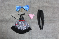 Blygirl Blyth doll Bar overalls bowknot dress underwear stockings 4 pieces