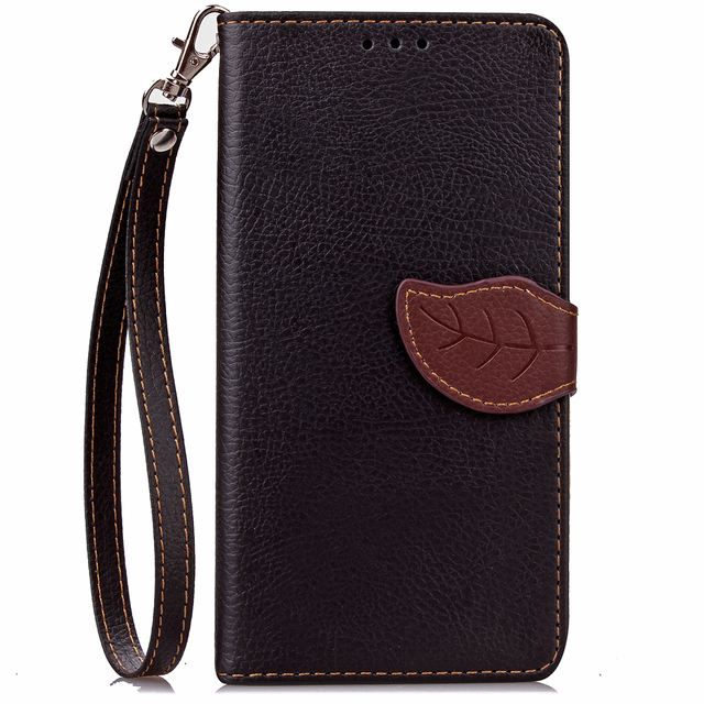 the best attitude 3e7cd f0f7b Fashion Leaf Design PU Leather Case For iPhone 7 / 7 Plus phone Case Card  Bits And Money Clip Flip Stand Phone Shell Cover-in Wallet Cases from ...