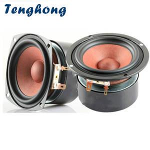 Tenghong Bookshelf Speakers Hifi Desktop Stereo 3inch Full-Range 2pcs 8ohm 20W for DIY