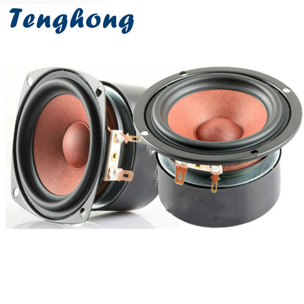 Tenghong 2pcs 3 Inch Audio Speaker 4Ohm 8Ohm 20W Full Range Hifi Stereo Bookshelf Speakers Desktop Loudspeaker For DIY