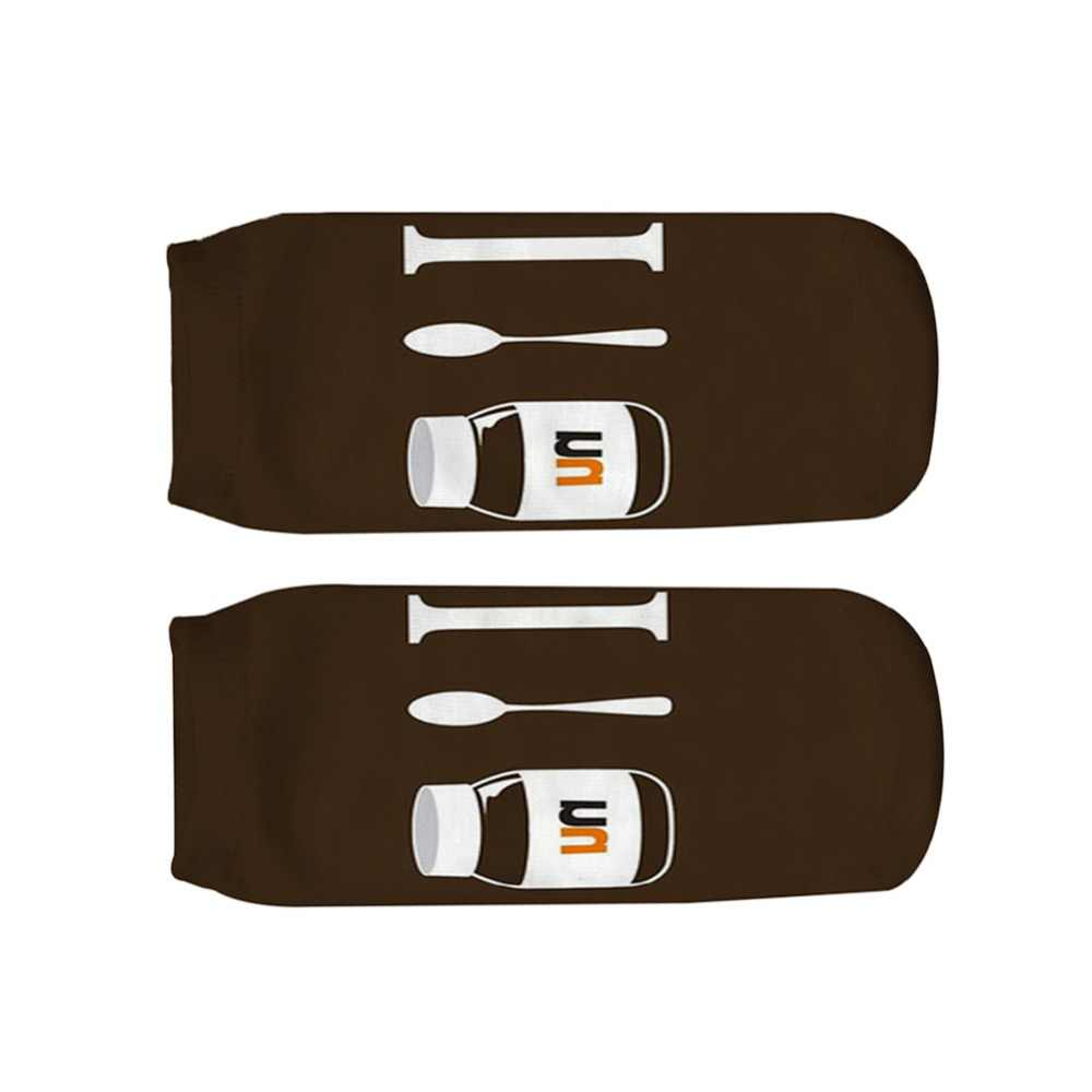 31d12645ea8b ... Coffee Nutella Print type 3D Socks Men Women teenager Socks female  short sock 2018 birthday gift ...