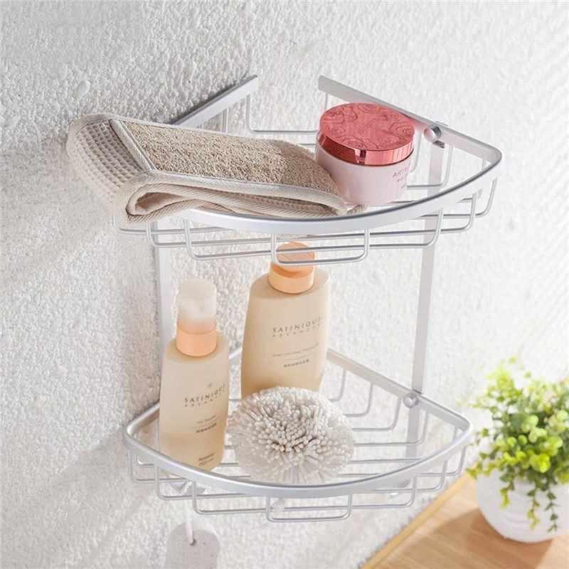 O mais baixo Preço de Alumínio Triangular Pendurado Triangular Acessórios Chuveiro Do Banheiro Canto Prateleira de Armazenamento De Rack Titular Cesta