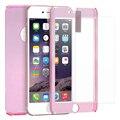 Para o iphone 6 S Mais Caso Luxo 360 Derece Proteção de Corpo Inteiro capa Para o iphone 6 Plus/6 s Plus Com Vidro Temperado Acrílico Capa