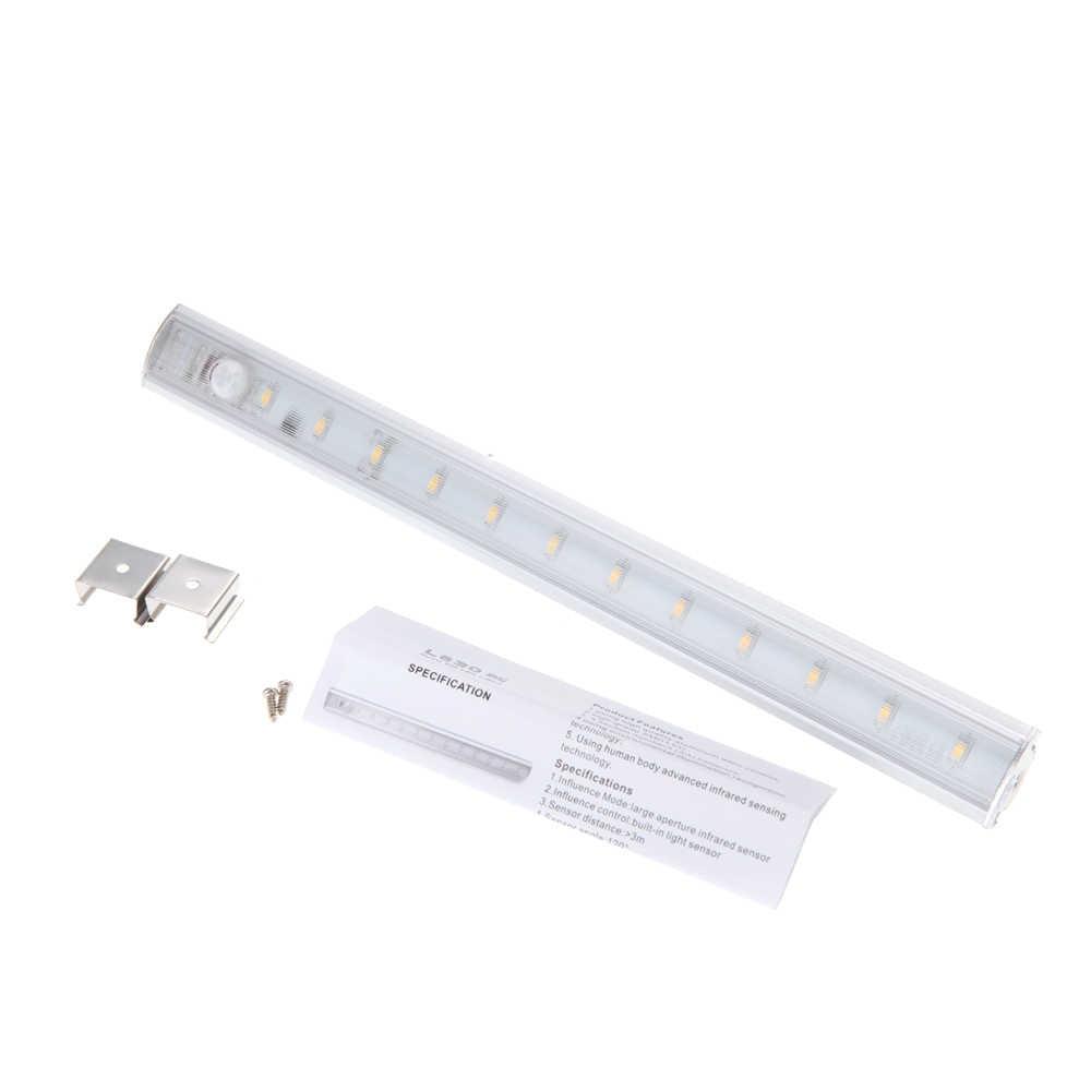 30 см SMD3528 1,2 Вт движения PIR Сенсор светодиодный свет бар шкаф жесткая трубка свет для Кухня шкаф DC6V ночник