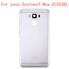 JPFix For Asus Zenfone 3 Max ZC553KL Battery Back Cover Housing Replacement Parts With Side Button(China)