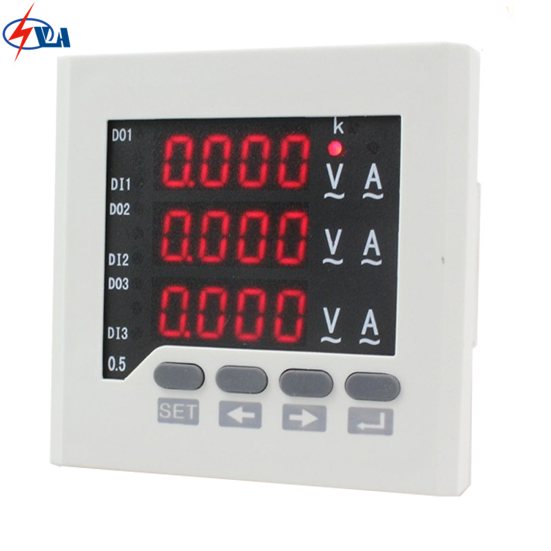 3UIF63  panel size 72*72 low price led ac ammeter and voltmeter 3 phase digital combined meter, for distribution box d2y panel size 120 120 low price and high quality lcd single phase digital multifunction meter for distribution box