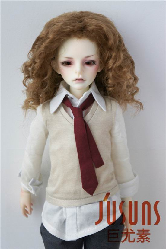JD001 18 20CM 1/4 MSD doll wigs 7 8inch Synthetic mohair doll hair Unisex Medium length wave BJD wigs-in Dolls Accessories from Toys & Hobbies on AliExpress - 11.11_Double 11_Singles' Day 1
