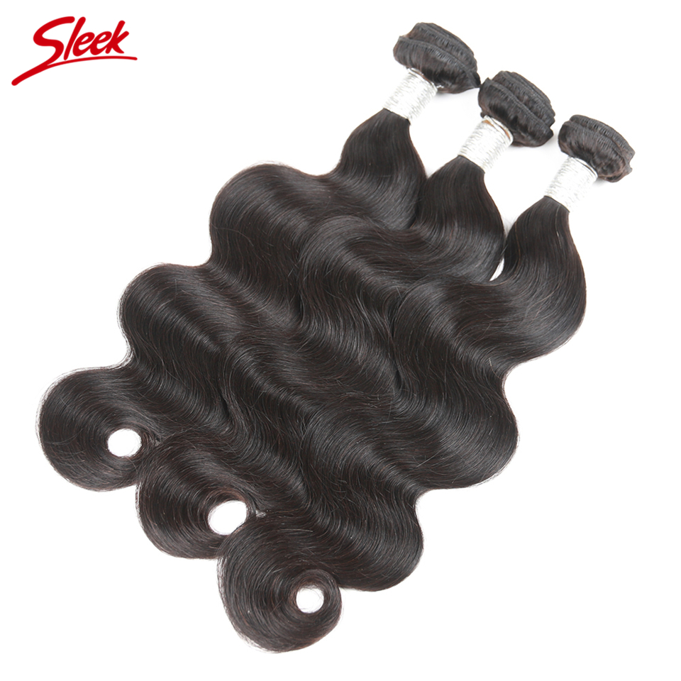 Sleek Remy 3 Bundles Brazilian Body Wave Hair Extention Natural Black Human Hair Weave Bundles Deal 8 To 30 Inch Free Shipping