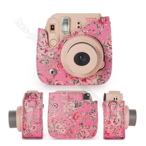 Image 5 - Fujifilm Instax Mini Camera Kleurrijke Case Voor Fuji Instax Mini 9 8 Camera Met Pu Leer Rose Blauw Roze, bos Groen Roze