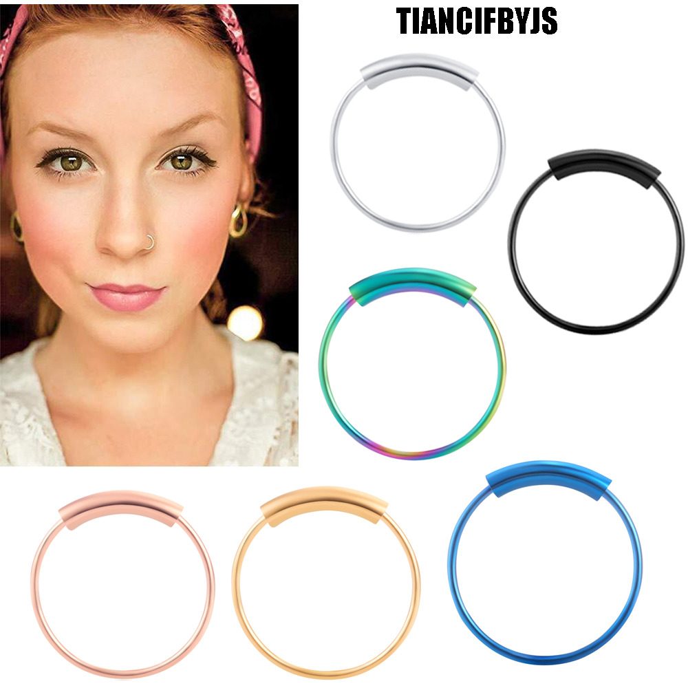 New Fashion Tiancifbyjs Black Ball Closure Ring Captive Bead Bcr 16g 1.2mm Nose Ear Helix Tragus Lip 10 Colours Piercing Body Jewelry 50pcs Clearance Price Jewelry Sets & More