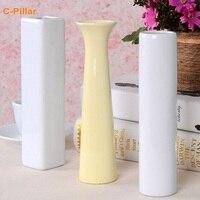 20x4 5cm Fashion Mini Ceramic Vase Flower Tabletop Vase Decoration Pot For Home Wedding Party Free